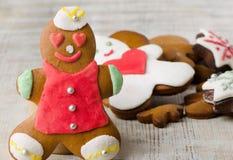 Homemade gingerbread man Stock Photo