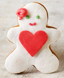 Homemade gingerbread man Stock Photography