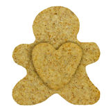 Homemade gingerbread man cookie Stock Photography
