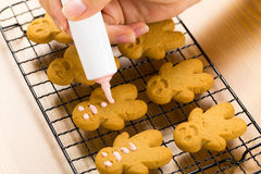 Homemade gingerbread man Royalty Free Stock Images
