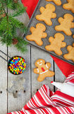 Homemade Gingerbread Men Stock Images