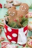 Homemade gingerbread men Stock Photography
