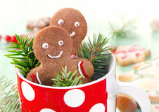 Homemade gingerbread men Royalty Free Stock Photo