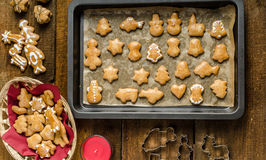 Homemade gingerbread Stock Images