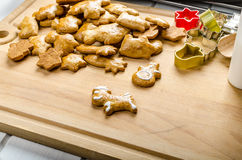 Homemade gingerbread Stock Photography