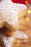 Homemade gingerbread  star cookies stacked Royalty Free Stock Image