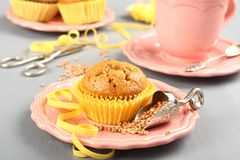 Homemade gluten free muffins from buckwheat flour Stock Image