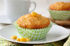 Homemade gluten-free muffins from corn flour Royalty Free Stock Photo