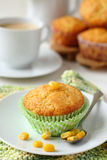 Homemade gluten-free muffins from corn flour Royalty Free Stock Photos
