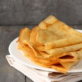 Homemade gluten free pancakes from rice flour, potato starch and millet flour Stock Images