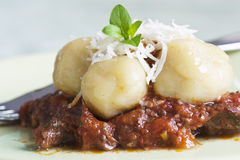 Homemade gnocchi with beef Royalty Free Stock Photo