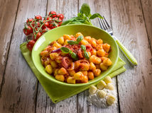 Homemade gnocchi with tomato sauce Royalty Free Stock Photography