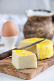 Homemade goat cheese Stock Photo