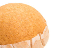 Homemade golden bread with clipping path and copy space Stock Images
