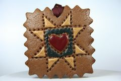 Homemade Goodness. Quilted Christmas Ornament for the Tree Royalty Free Stock Photography