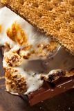 Homemade Gooey Marshmallow S'mores. With Chocolate Stock Photography