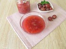 Homemade gooseberries jam Stock Image