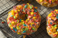 Homemade Gourmet Donuts with Cereal on Top Royalty Free Stock Photos