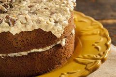 Homemade Gourmet German Chocolate Cake Royalty Free Stock Images