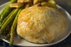 Homemade Gourmet Individual Beef Wellington. Ready to Eat royalty free stock images