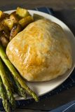 Homemade Gourmet Individual Beef Wellington. Ready to Eat stock photography