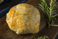 Homemade Gourmet Individual Beef Wellington. Ready to Eat royalty free stock photography