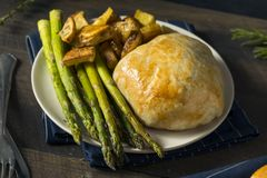 Homemade Gourmet Individual Beef Wellington. Ready to Eat royalty free stock photos