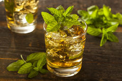 Homemade Gourmet Mint Julep Stock Photography