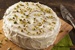 Homemade Gourmet Pistachio Cake Royalty Free Stock Images