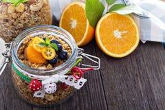 Homemade granola as present Stock Photography