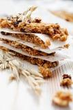 Homemade granola bars Stock Image