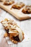Homemade granola bars Stock Photo