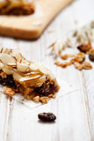 Homemade granola bars Royalty Free Stock Image