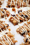 Homemade granola bars Stock Photography