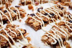 Homemade granola bars Stock Image