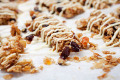 Homemade granola bars Royalty Free Stock Photos