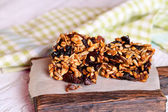 Homemade Granola Bars stock photos