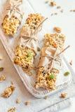 Homemade granola bars Stock Images