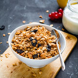 Homemade granola in bowl Stock Photography