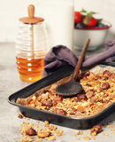 Homemade granola breakfast Stock Photo