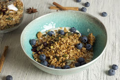 Homemade granola with dried cranberry. Food & Dishes for Restaurants, Cuisine of the peoples of the world, Healthy Recipes Royalty Free Stock Photos