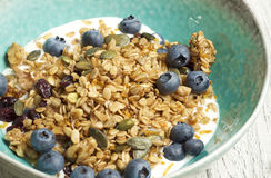 Homemade granola with dried cranberry. Food & Dishes for Restaurants, Cuisine of the peoples of the world, Healthy Recipes Stock Photography