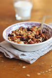 Homemade granola with dried cranberry and nuts Royalty Free Stock Images