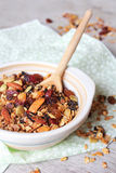 Homemade granola with dried fruits and nuts Stock Images
