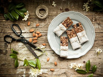 Homemade granola energy bars Royalty Free Stock Photo