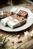 Homemade granola energy bars Stock Photos