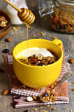 Homemade granola,healthy breakfast. Stock Image