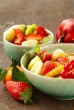 Homemade granola muesli with fruit salad Royalty Free Stock Image