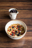 Homemade granola or muesli with toasted peanuts Royalty Free Stock Image