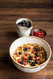 Homemade granola or muesli with toasted peanuts Royalty Free Stock Photo
